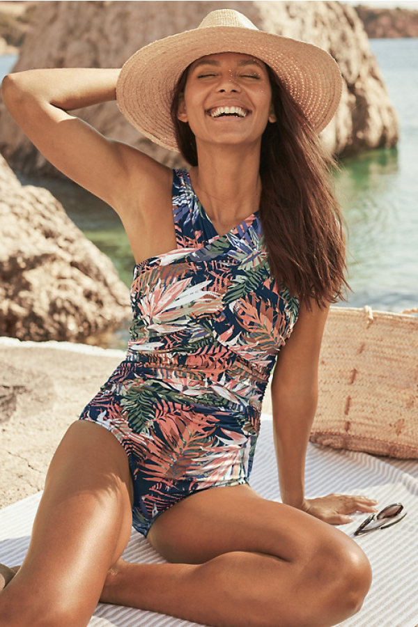 RuchedFront OnePiece Swimsuit
