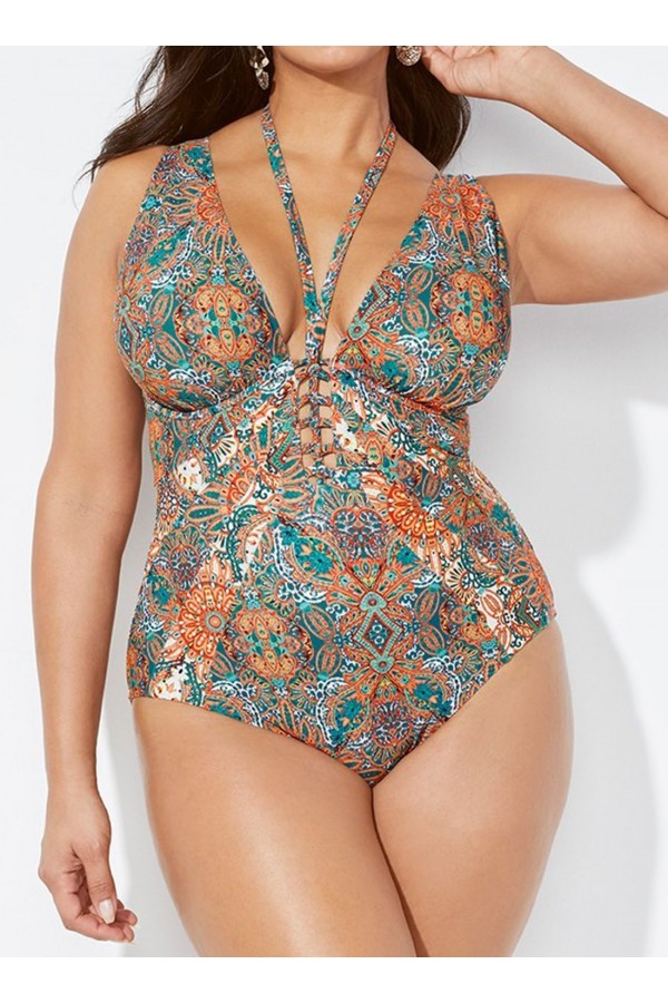 AUTUMN STRAPPY PLUNGE UNDERWIRE ONE PIECE SWIMSUIT