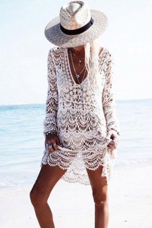 Boho Crochet Tunic Cover Up