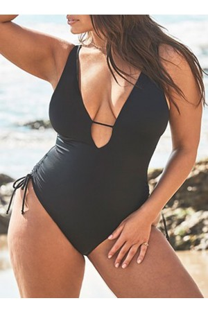 ALIST PLUNGE ONE PIECE SWIMSUIT