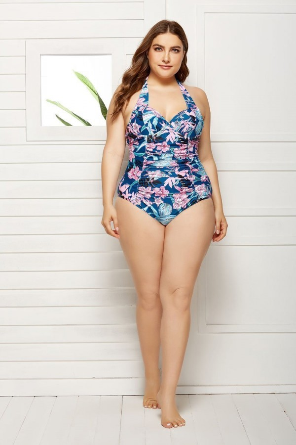 LEIA HALTER UNDERWIRE ONE PIECE SWIMSUIT