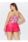 AUBADE TIE FRONT UNDERWIRE TANKINI WITH SORBET SIDE SLIT SKIRT