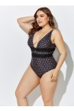JACKSON LACE PLUNGE ONE PIECE SWIMSUIT
