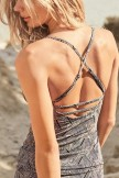 Black Tribal Woodblock Tankini Set