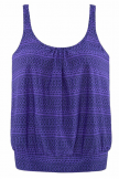 PURPLE MULT MIX PRINT TANKINI SET