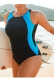 CHLORINE RESISTANT LYCRA XTRA LIFE BACKSTROKE KEYHOLE BACK ONE PIECE SWIMSUIT