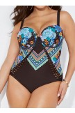 CARNIVAL CUT OUT UNDERWIRE ONE PIECE SWIMSUIT