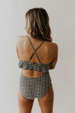 Plaid Ruffle One Piece Suit