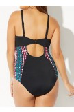 Deep Vneck Adjustable Straps One Piece Swimsuit