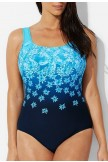 CHLORINE RESISTANT EXPLODED FLORAL SPORT ONE PIECE SWIMSUIT